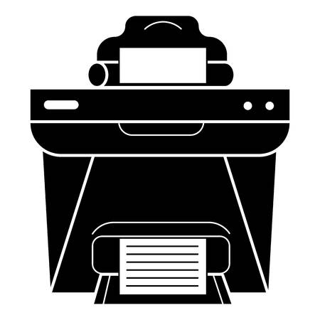 Printer front view icon. Simple illustration of printer front view vector icon for web design isolated on white background