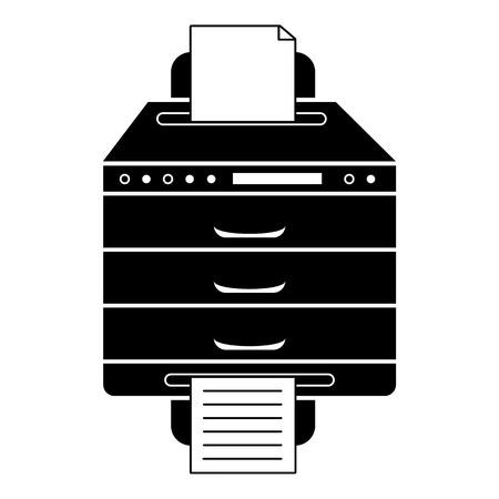 Multifunction printer icon, simple style