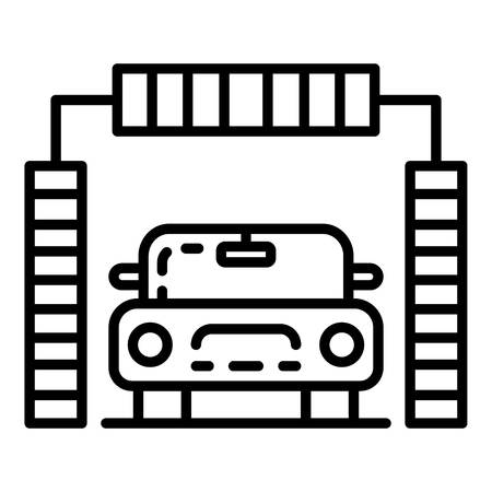 Brush car wash icon. Outline brush car wash vector icon for web design isolated on white background