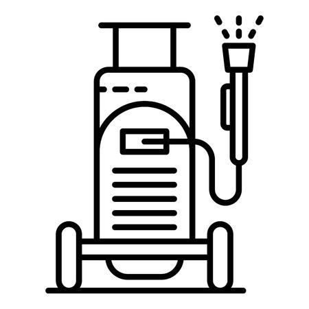 Icône d'équipement de lavage de voiture, style de contour