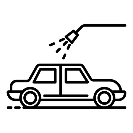 Car water shower icon, outline style