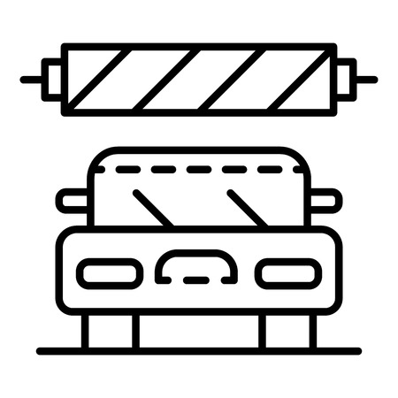 Car wash station icon, outline style