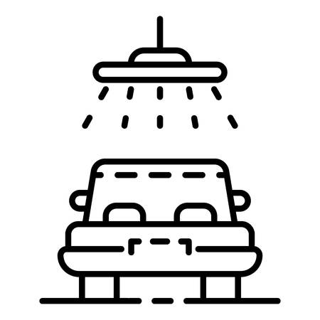 Car shower icon, outline style Stock Vector - 116634282