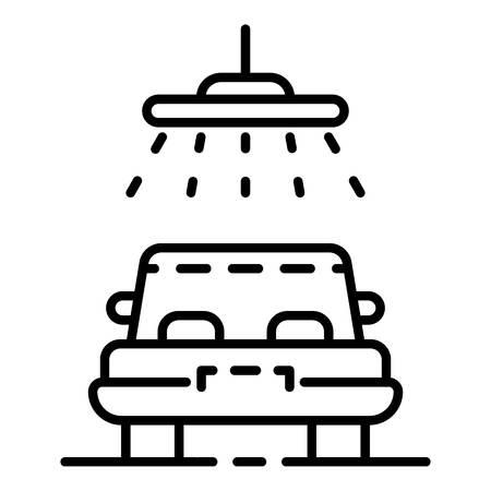 Car shower icon, outline style Illustration