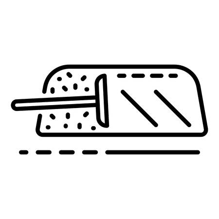 Cleaning windscreen icon, outline style