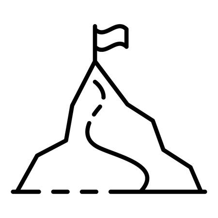 Ski resort mountain icon. Outline ski resort mountain vector icon for web design isolated on white background