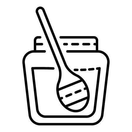 Honey jar icon. Outline honey jar vector icon for web design isolated on white background