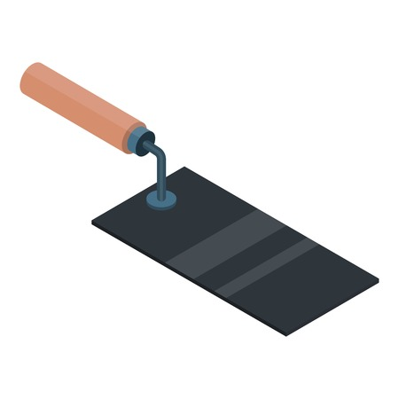 Square trowel icon. Isometric of square trowel vector icon for web design isolated on white background Vetores