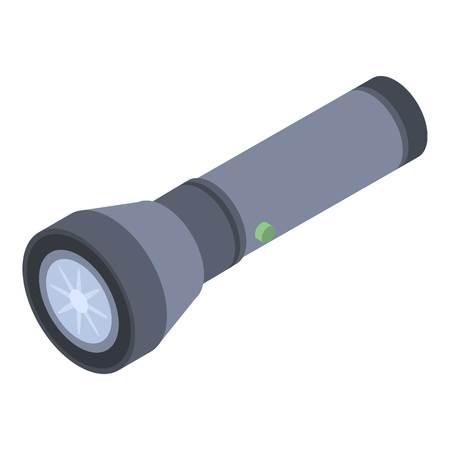 Police flashlight icon, isometric style Ilustração