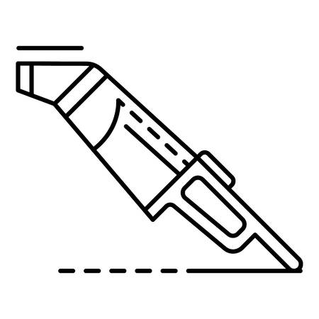 Car vacuum cleaner icon, outline style Vetores