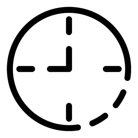 Wall clock icon. Outline wall clock vector icon for web design isolated on white background