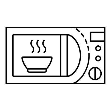 Domestic microwave icon. Outline domestic microwave vector icon for web design isolated on white background