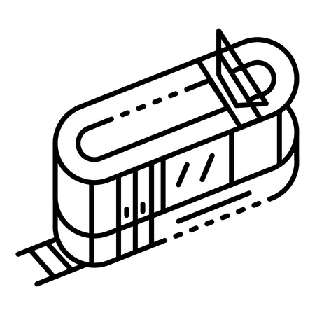 Tramway icon, outline style