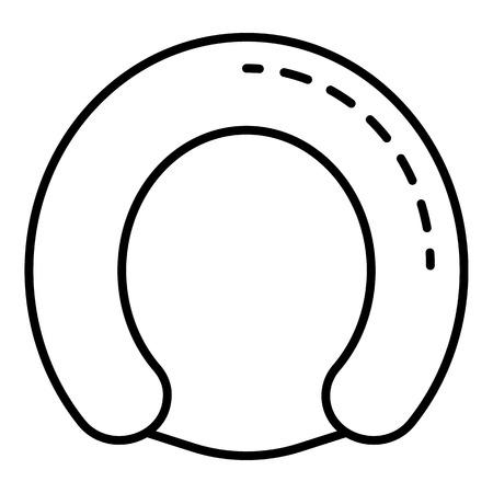 Artificial breastfeeding icon. Outline artificial breastfeeding vector icon for web design isolated on white background Ilustración de vector