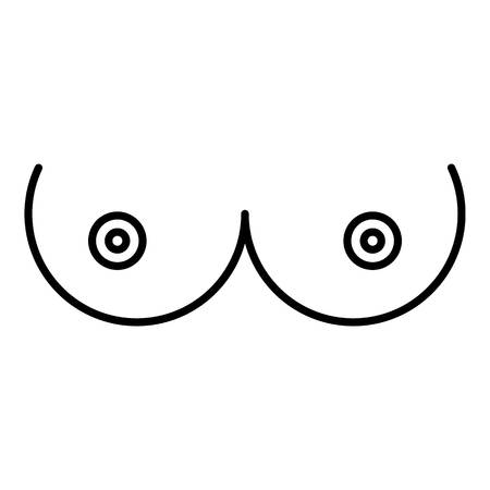 Breast woman icon, outline style