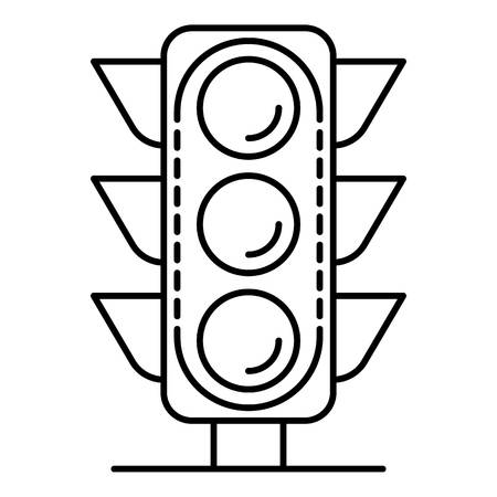 City traffic light icon. Outline city traffic light vector icon for web design isolated on white background