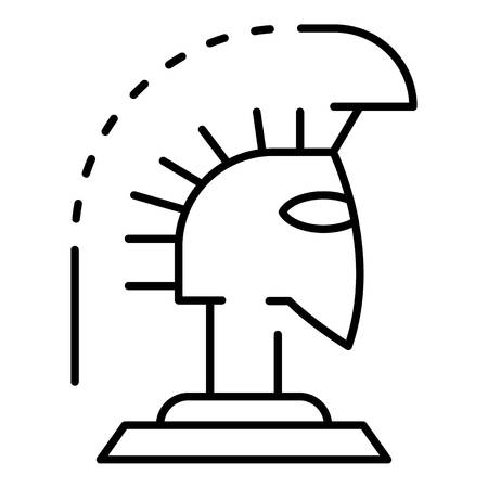 Greek helmet icon, outline style Иллюстрация