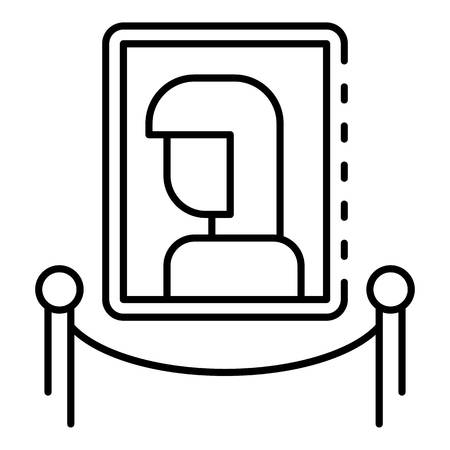 Museum woman picture icon, outline style