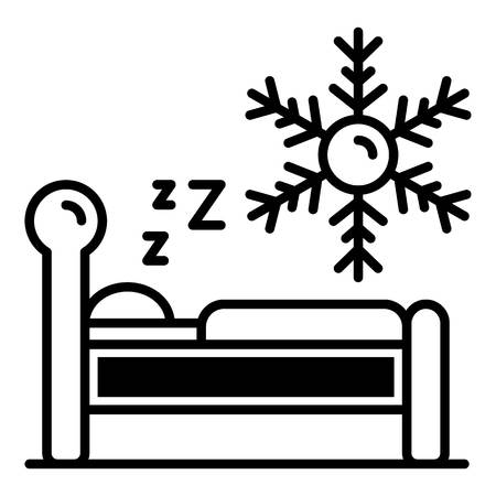 Low temperature sleeping icon. Outline low temperature sleeping vector icon for web design isolated on white background