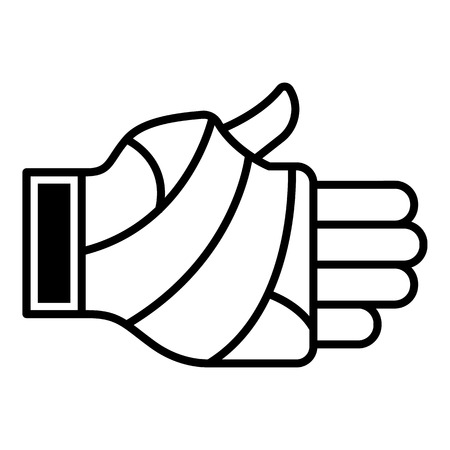 Frostbite hand icon. Outline frostbite hand vector icon for web design isolated on white background