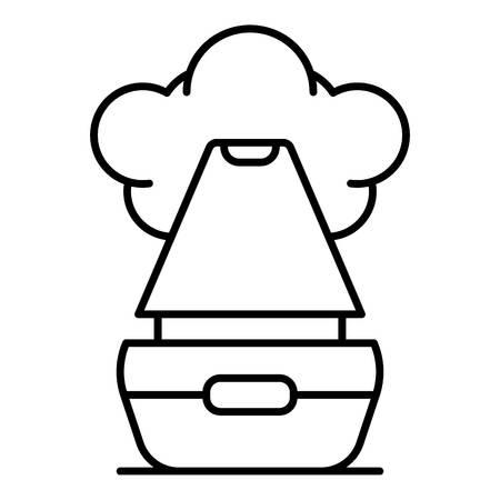 Vapor humidifier icon, outline style