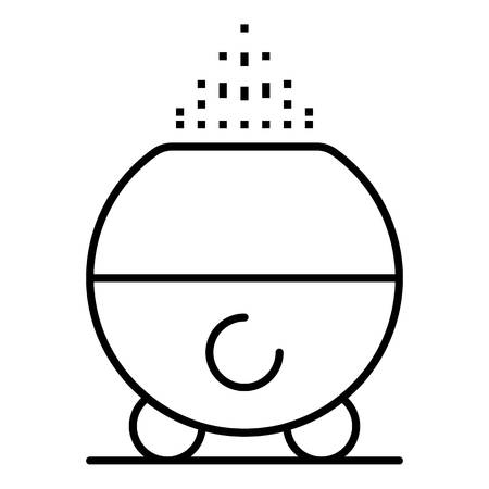 Home humidifier icon, outline style