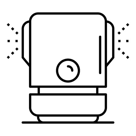 Wet humidifier icon, outline style Иллюстрация