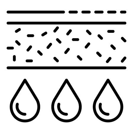 Water filter structure icon. Outline water filter structure vector icon for web design isolated on white background