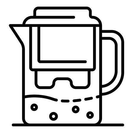 Water filter jug icon, outline style