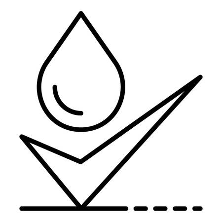 Approved water filtration icon, outline style
