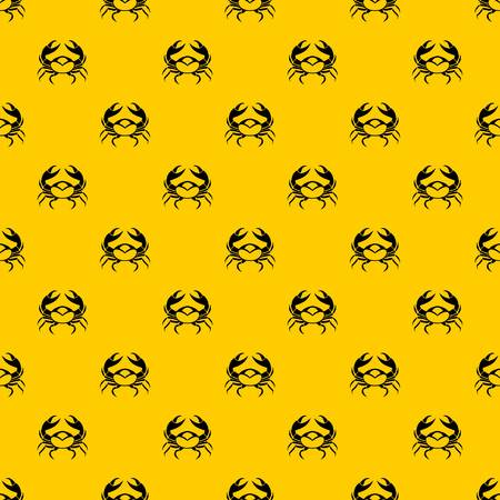 Big crab pattern seamless vector repeat geometric yellow for any design