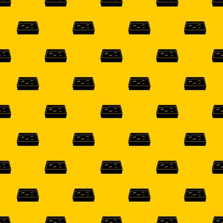 Cat toilet pattern seamless vector repeat geometric yellow for any design