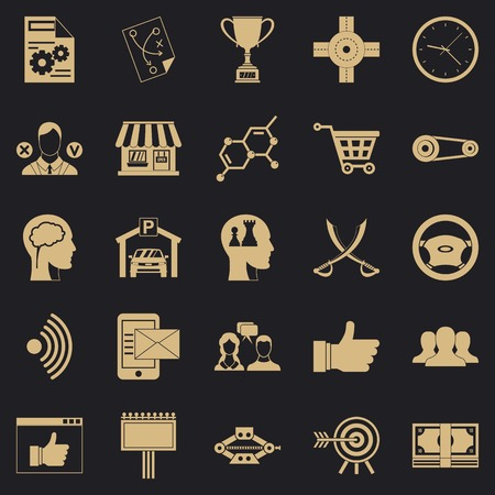 General director icons set. Simple set of 25 general director vector icons for web for any design Illustration