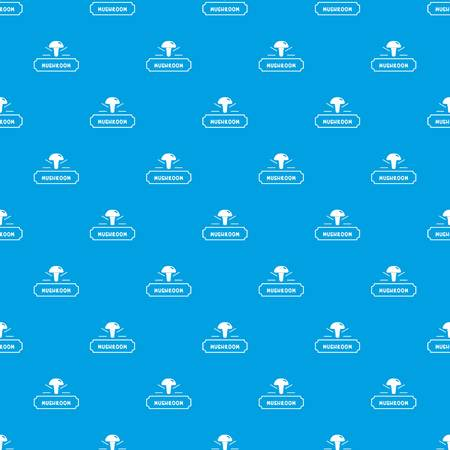 Mushroom fresh pattern vector seamless blue repeat for any use