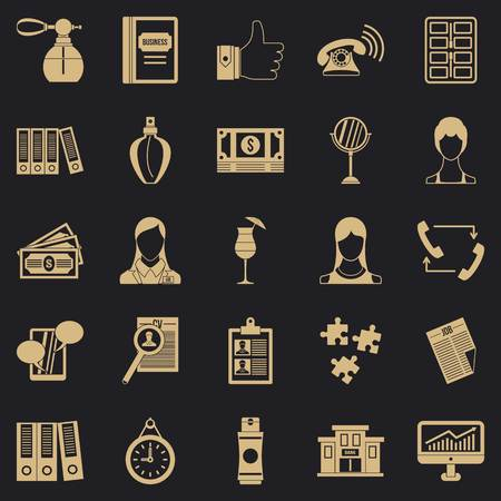 Business studio icons set. Simple set of 25 business studio vector icons for web for any design Illustration