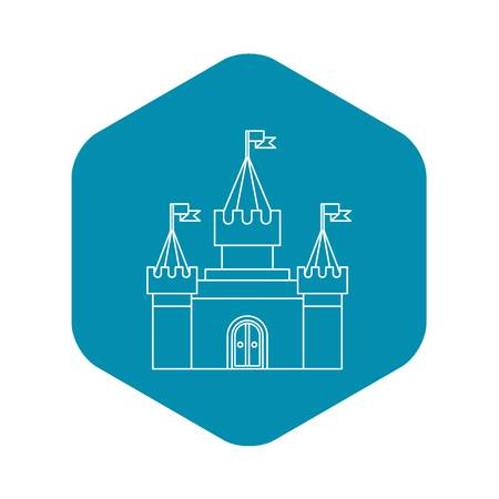 Fortress icon in outline style Illustration