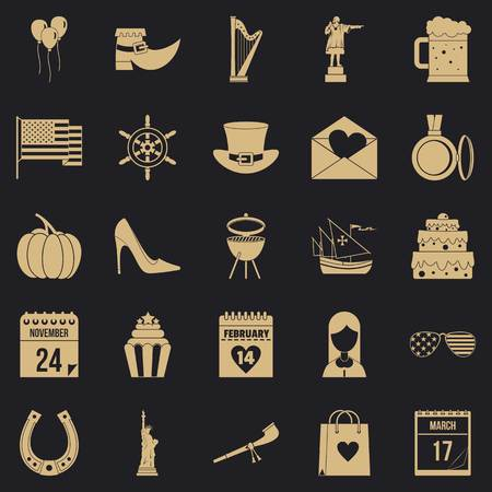 Calendar icons set. Simple set of 25 calendar vector icons for web for any design