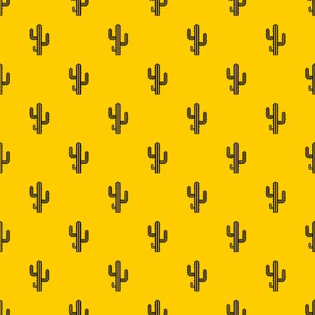 Cactus pattern seamless vector repeat geometric yellow for any design