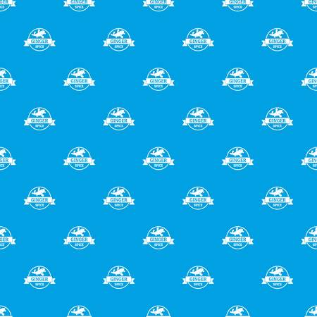 Ginger spice pattern vector seamless blue repeat for any use Ilustração