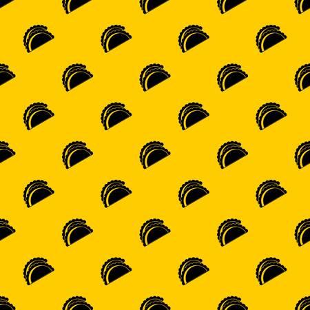 Empanadas de pollo pattern seamless vector repeat geometric yellow for any design
