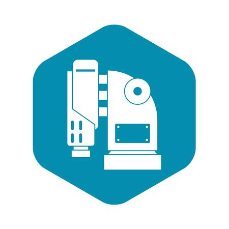 Pneumatic hammer machine icon, simple style