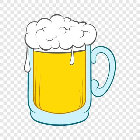 Beer mug icon in cartoon style Vektorové ilustrace