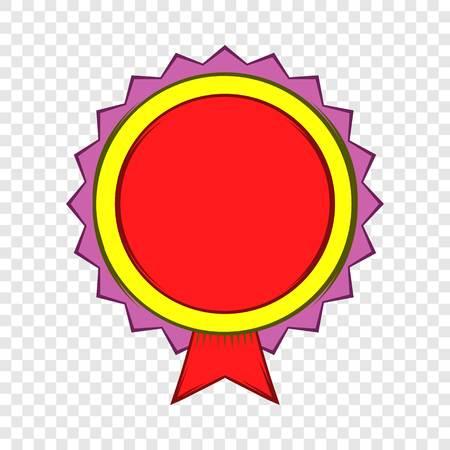Award rosette icon, cartoon style Vector Illustratie