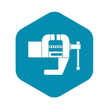 Vise tool icon, simple style Ilustração