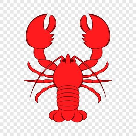 Crayfish icon in cartoon style Illustration