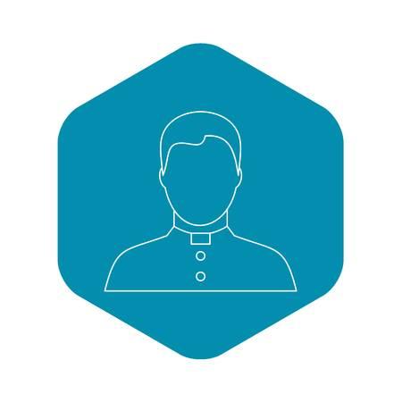 Catholic priest icon, outline style