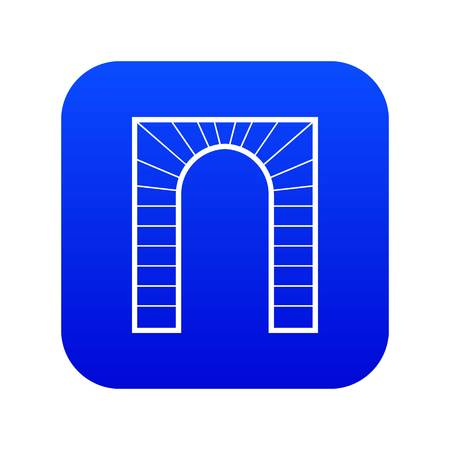 Arch icon digital blue Standard-Bild - 117116734