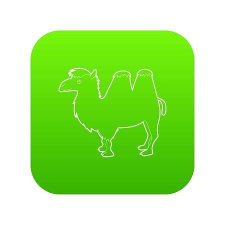 Camel icon green vector Vectores