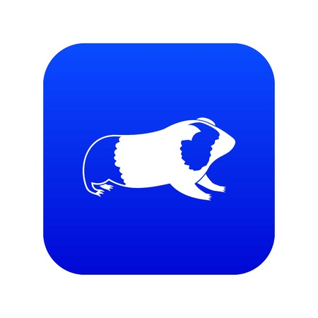 Hamster icon digital blue for any design isolated on white vector illustration
