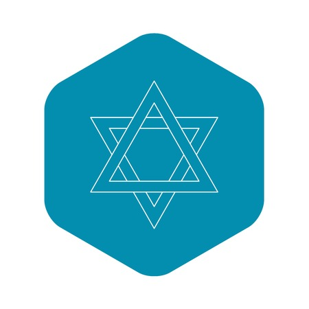 Star of David icon, outline style